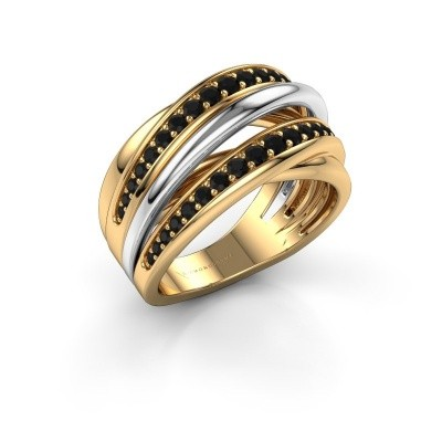 Ring Marylouise 2 585 goud zwarte diamant 0.742 crt