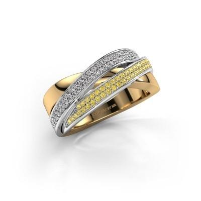 Foto van Ring Myra 585 goud gele saffier 1 mm