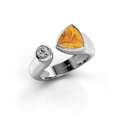 Ring Latisha 950 platina citrien 7 mm