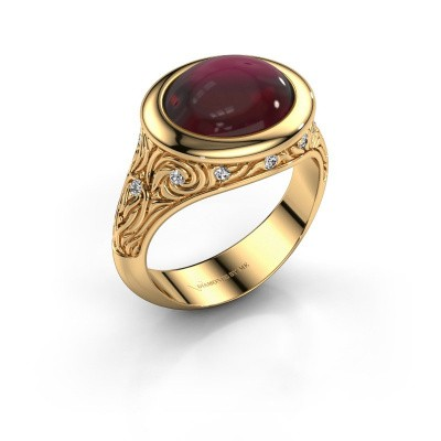 Ring Natacha 585 goud granaat 12x10 mm