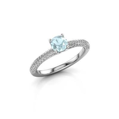Picture of Engagement ring Elenore rnd 925 silver aquamarine 5 mm