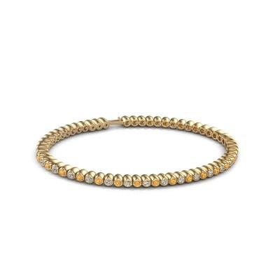 Tennisarmband Trix 375 goud citrien 2 mm