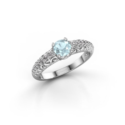 Picture of Engagement ring Mellie 950 platinum aquamarine 5 mm