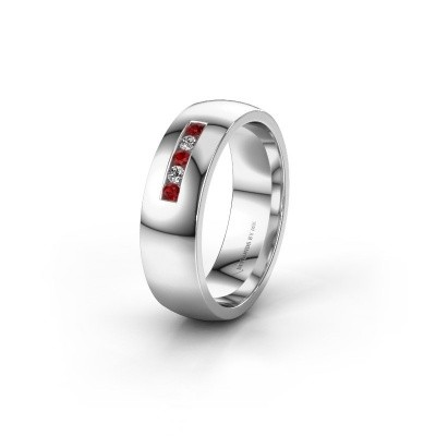 Alliance WH0107L26BP 925 argent rubis ±6x2 mm