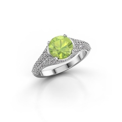 Picture of Ring Lovella 925 silver peridot 7 mm