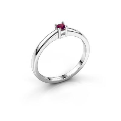 Promise ring Eline 1 925 zilver rhodoliet 3 mm
