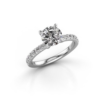 Verlobungsring Crystal rnd 2 585 Weißgold Diamant 0.43 crt