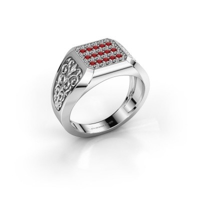 Foto van Heren ring Amir 585 witgoud robijn 1.4 mm