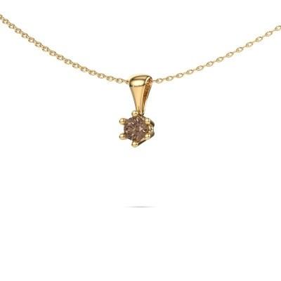 Foto van Ketting Fay 375 goud bruine diamant 0.25 crt