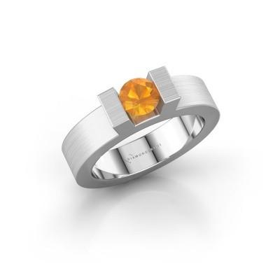 Foto van Ring Leena 1 925 zilver citrien 5 mm