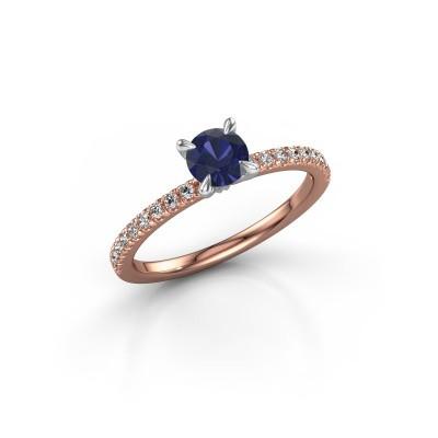 Foto van Verlovingsring Crystal rnd 2 585 rosé goud saffier 5 mm