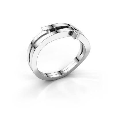 Ring Amelie 585 white gold black diamond 0.064 crt