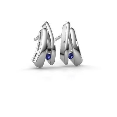 Picture of Earrings Liesel 925 silver sapphire 2 mm