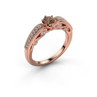 Engagement ring Christeen 375 rose gold brown diamond 0.53 crt