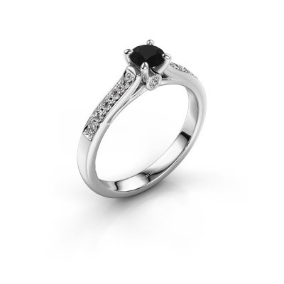 Picture of Engagement ring Valorie 2 585 white gold black diamond 0.48 crt
