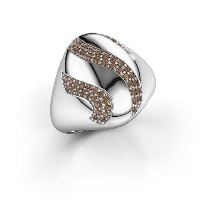 Ring Vilma 585 witgoud bruine diamant 0.333 crt