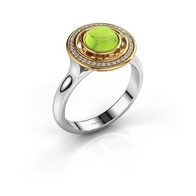 Picture of Ring Salima 585 white gold peridot 6 mm