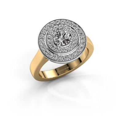 Ring Alecia 1 585 goud zirkonia 5 mm