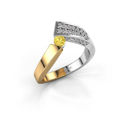 Ring Evie 585 gold yellow sapphire 3.4 mm