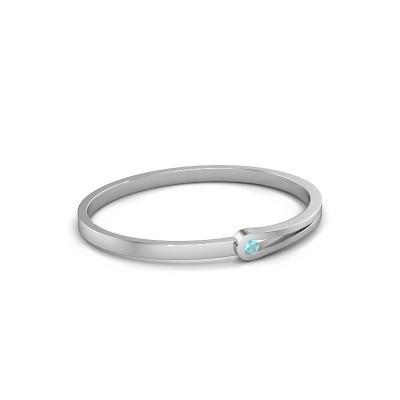 Bangle Kiki 950 platinum blue topaz 4 mm