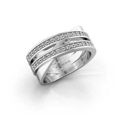 Bild von Ring Margje 585 Weißgold Diamant 0.32 crt