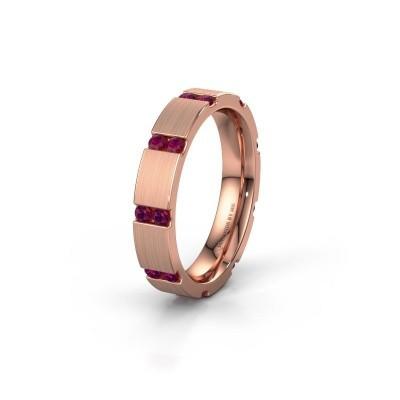 Huwelijksring WH2132L14BM 375 rosé goud rhodoliet ±4x2.2 mm