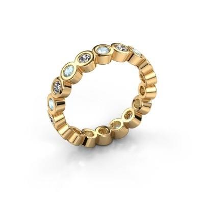 Foto van Aanschuifring Edwina 2 375 goud diamant 0.54 crt