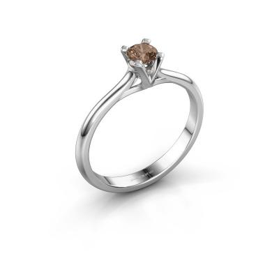 Verlovingsring Isa 1 585 witgoud bruine diamant 0.25 crt