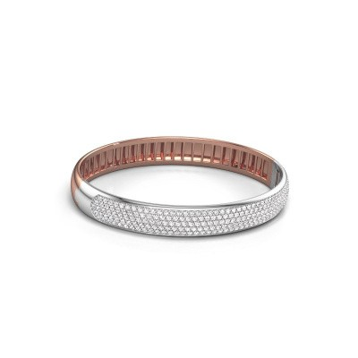 Foto van Slavenarmband Emely 9mm 585 rosé goud lab-grown diamant 3.018 crt