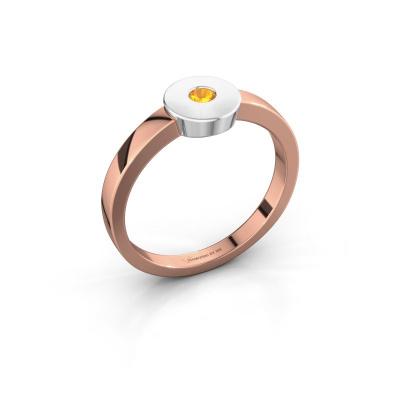 Ring Elisa 585 Roségold Citrin 3 mm