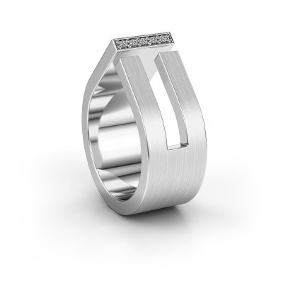 Huwelijksring WH2090L19C 950 platina diamant ±10x2.2 mm