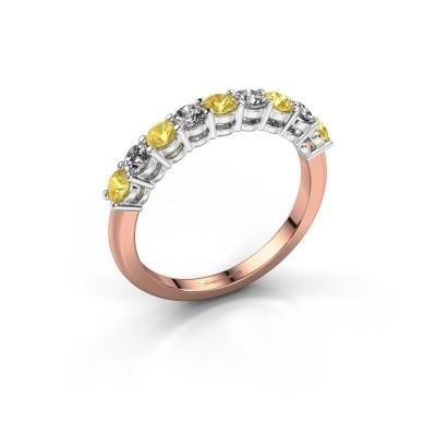 Foto van Belofte ring Michelle 9 585 rosé goud gele saffier 2.7 mm