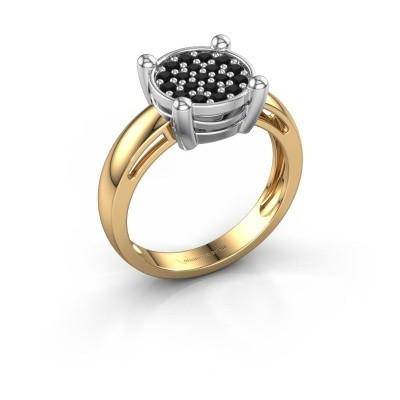 Ring Dina 585 goud zwarte diamant 0.41 crt