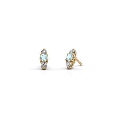 Ohrringe Amie 375 Gold Aquamarin 4 mm