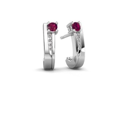 Picture of Earrings Jewell 950 platinum rhodolite 2.7 mm