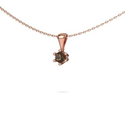 Picture of Necklace Fay 375 rose gold smokey quartz 4 mm