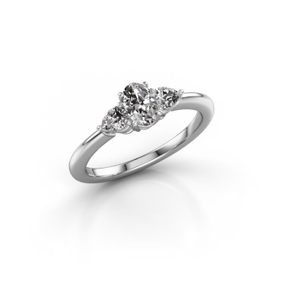 Picture of Engagement ring Chanou OVL 585 white gold diamond 0.920 crt