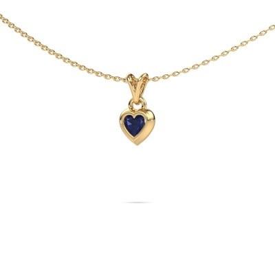 Foto van Hanger Charlotte Heart 585 goud saffier 4 mm