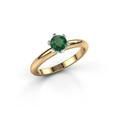 Foto van Verlovingsring Tiffy 1 585 goud smaragd 5 mm