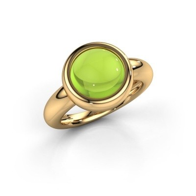 Picture of Ring Jenae 585 gold peridot 10 mm