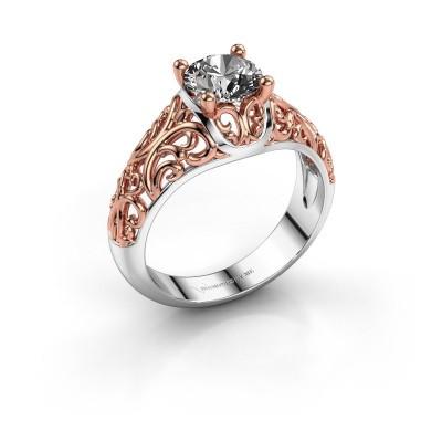Foto van Ring Mirte 585 witgoud diamant 1.00 crt
