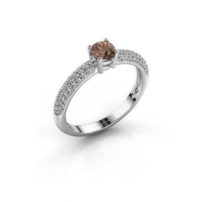 Verlobungsring Marjan 950 Platin Braun Diamant 0.662 crt