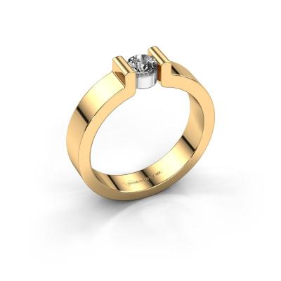 Verlovingsring Isabel 1 585 goud diamant 0.30 crt