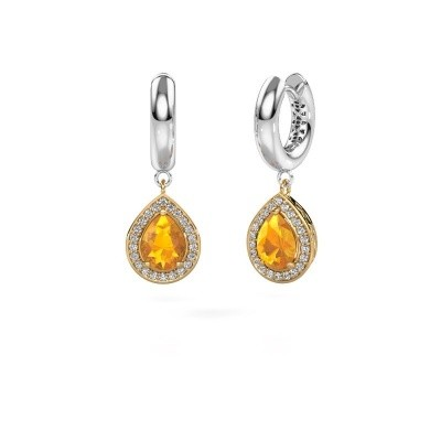 Picture of Drop earrings Barbar 1 585 gold citrin 8x6 mm