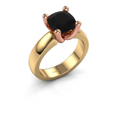 Ring Clelia CUS 585 gold black diamond 3.60 crt