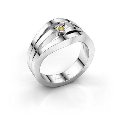 Ring Carlijn 585 Weißgold Gelb Saphir 2 mm