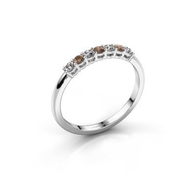 Engagement ring Michelle 7 925 silver brown diamond 0.21 crt