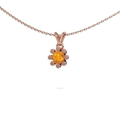 Foto van Hanger Carola 1 375 rosé goud citrien 5 mm