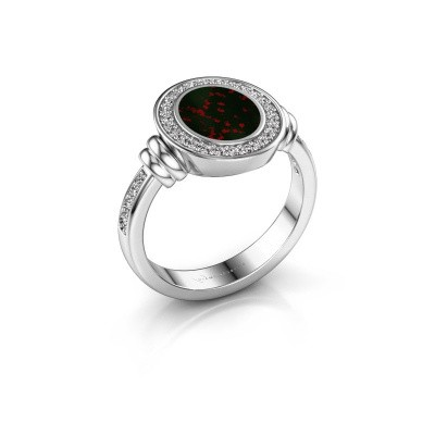 Signet ring Bailey 950 platinum bloodstone 10x8 mm