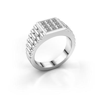 Foto van Heren ring Chavez 925 zilver zirkonia 2 mm